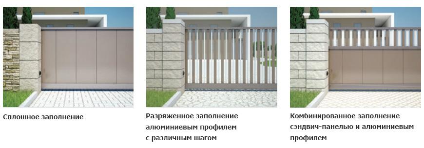 виды откатных ворот-1
